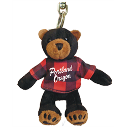 Zipper Pull - Black Bear - PORTLAND OREGON - Red Jack