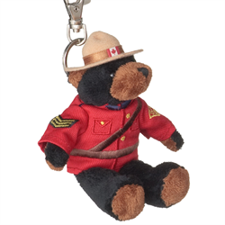 "Zipper Pull - 5"" RCMP Black Bear"