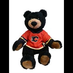 "10"" Curly Critter Black Bear - Calgary Flames"