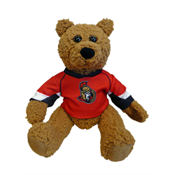 "10"" Curly Critter Brown Bear - Ottawa Senators"
