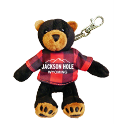 Zipper Pull - Black Bear - JACKSON HOLE WYOMING Red Jack