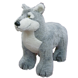 Display - Baby Grey Wolf (on all fours)