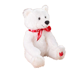 "9"" MapleFoot Sitting Polar Bear Canada"