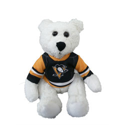 "10"" Curly Critter Polar Bear - Pittsburgh Penguins"