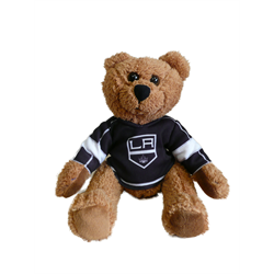 "10"" Curly Critter Brown Bear - Los Angeles Kings"