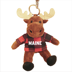 Zipper Pull- Moose - MAINE Red Jack