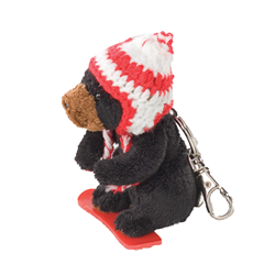 Zipper Pull - Boarder Black Bear Maple Leaf