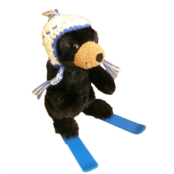 "6"" Skier Black Bear BLUE"