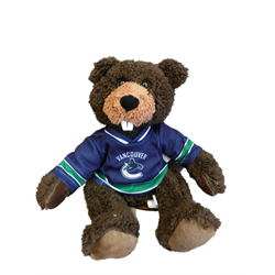 """10"""" Curly Critter Beaver - Vancouver Canucks"""