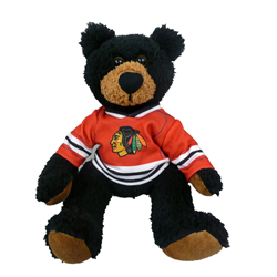 "10"" Curly Critter Black Bear - Chicago Blackhawks"