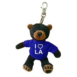 Zipper Pull - Black Bear - I (heart) LA - Solid Royal