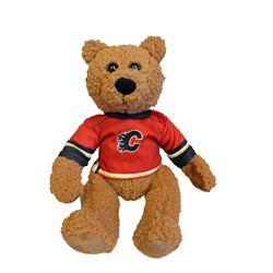 "10"" Curly Critter Brown Bear - Calgary Flames"