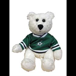 """10"""" Curly Critter Polar Bear - Dallas Stars"""