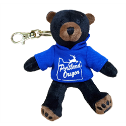 Zipper Pull - Black Bear - PORTLAND & STAG - Solid Blue