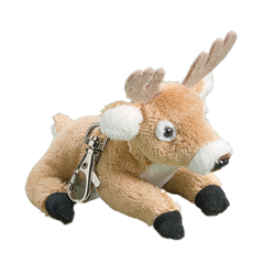 Zipper Pull - Natural White Tail Deer