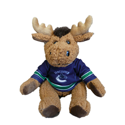 """10"""" Curly Critter Moose - Vancouver Canucks"""