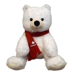 "10"" Softy Critter Sitting Polar Bear CANADA"