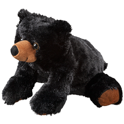 "12"" FloppyFoot Black Bear"