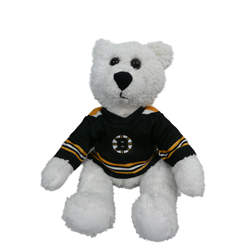 "10"" Curly Critter Polar Bear - Boston Bruins"