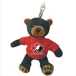 "4.5"" Zipper Pull - Hockey Canada Black Bear"