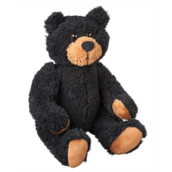 "10"" Curly Critter Black Bear"