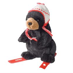 """6"""" Skier Black Bear Canada"""