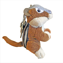 Zipper Pull - Natural Chipmunk