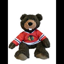 """10"""" Curly Critter Beaver - Chicago Blackhawks"""