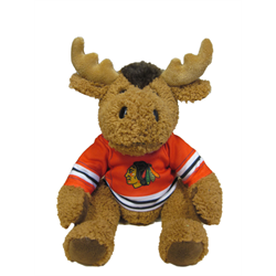 "10"" Curly Critter Moose - Chicago Blackhawks"