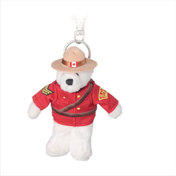 "Zipper Pull - 5"" RCMP Polar Bear"