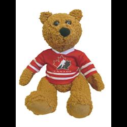 "10"" Curly Critter Brown Bear - Hockey Canada"