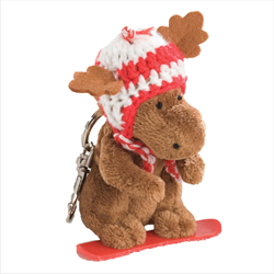 Zipper Pull - Boarder Moose RED