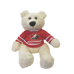 "10"" Curly Critter Polar Bear - Hockey Canada"
