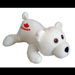 "9"" Extra Soft Floppy Polar Bear CANADA"