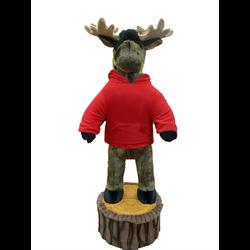 6' Character Moose on Stump