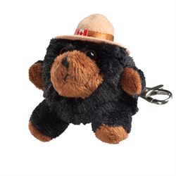 Zipper Pull - RCMP Character Buddies Black Bear
