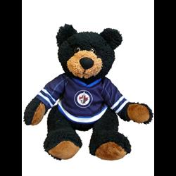 "10"" Curly Critter Black Bear - Winnipeg Jets"