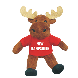 Zipper Pull - Moose - NEW HAMPSHIRE Solid Red