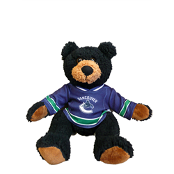 """10"""" Curly Critter Black Bear - Vancouver Canucks"""