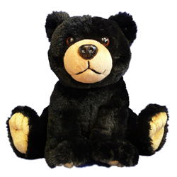 "10"" Natural Sitting Black Bear"