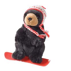 """6"""" Boarder Black Bear RED"""