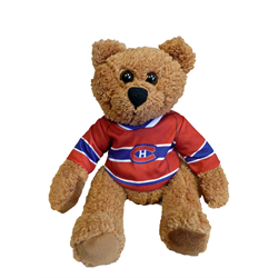 "10"" Curly Critter Brown Bear - Montreal Canadiens"
