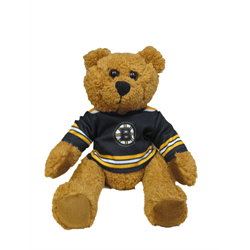 "10"" Curly Critter Brown Bear - Boston Bruins"