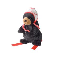 Zipper Pull - Skier Black Bear Maple Leaf