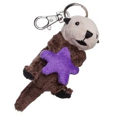 Zipper Pull - Natural Otter & Starfish