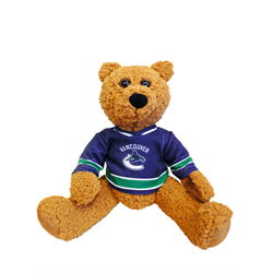 "10"" Curly Critter Brown Bear - Vancouver Canucks"