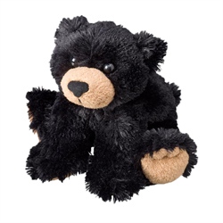 "7"" FloppyFoot Black Bear"