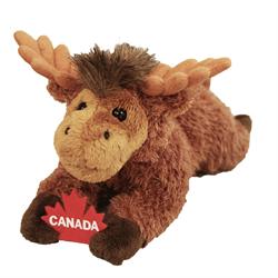 """9"""" Floppy Moose Holding Maple Leaf"""
