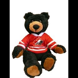 "10"" Curly Critter Black Bear - Hockey Canada"