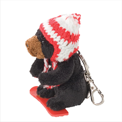 Zipper Pull - Boarder Black Bear RED
